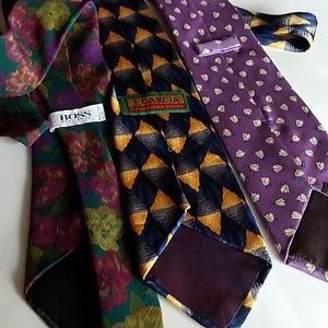 Boss Garcia Facconable Accessories - 3 Silk Ties Boss Garcia Facconable